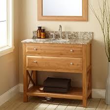 Bamboo Bathroom Cabinets 36 Narrow Depth Castine Bamboo Vanity For Undermount Sink Bathroom
