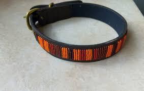 african beaded dog collar leather dog collar african dog collar pet gifts