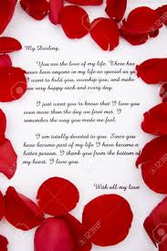 Romantic Love Letters A Romantic Love Letter With Rose Petals Stock Photo Picture And 1