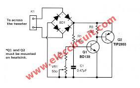 the tweeter speaker protection circuit eleccircuit com perfect tweeter speaker protection circuit