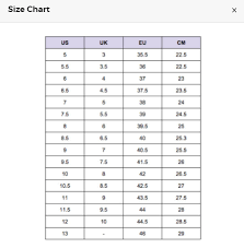 Size Chart Where Is The Size Chart Cudo Shopping