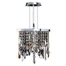 worldwide lighting fiona collection 1 light chrome crystal pendant