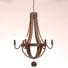 wine barrel chandelier lighting