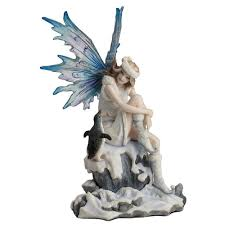 Veronese Design Angels Veronese Design Whimsical Charmer Snow Fairy With Penguin Sculpture