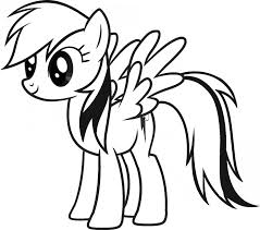 Small Picture Printable rainbow dash coloring pages for kids ColoringStar