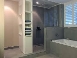 Bilder Badezimmer Halbhoch Gefliest Wasserdichter Putz Dusche