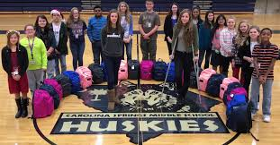 carolina springs middle school carolina springs students collect donations for hurricane matthew