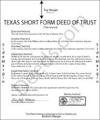 example short form short form deed of trust form texas deeds com example of deed of