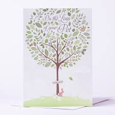 Card For Loss Of Pet Sympathy Card On The Loss Of Your Pet Only 59p