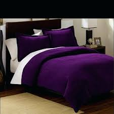 plum colored bedding sets collection 3 pieces solid purple soft micro suede comforter with pillowcase set