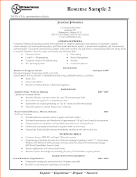 Simple Resume Template For Students Free Resume Example And