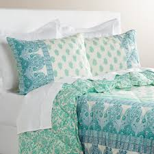 Screen Printing Designs For Bed Sheets Tonal Shades Of Light And Dark Aqua Lend A Unique Effect To