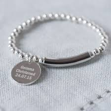 modern sterling silver 925 christening bracelet by oh so cherished notonthehighstreet