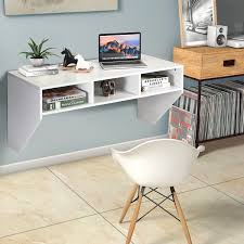 wall mounted floating computer table