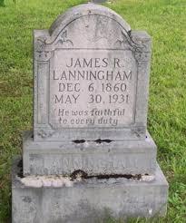 Tombstones - James and Anna Lann
