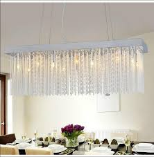 modern oblong chandelier modern rectangular crystal chandelier light fixtures