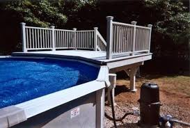 small pool deck kits above ground pool with deck packages image of amazing above ground wooden