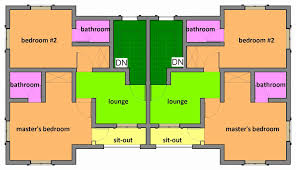 one y two bedroom house plan best of semi detached