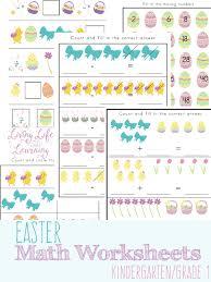 Easter Math Worksheets for Kindergarten - Blessed Beyond A Doubt