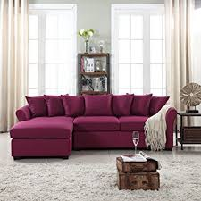 l shape furniture. Modern Large Linen Fabric Sectional Sofa, L-Shape Couch With Extra Wide Chaise Lounge L Shape Furniture N