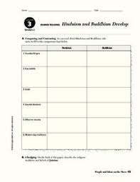Hinduism Buddhism Chart Lesson Plans Worksheets