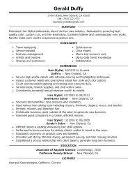 Sample Hairstylist Cover Letter Resume Of Hairdresser Hair Stylist