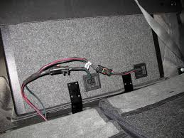 mopar kicker dual 10 sub enclosure install and review lots of route the two four pin subwoofer connectors along the bottom of the floor near the rear seatbelt studs and secure the harness by pressing the plastic