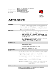 Resume Sample For Bca Student Resume Ixiplay Free Resume Samples