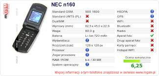 Twojej stronie NEC n160 :: mGSM ...