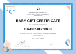 Gift Certificate Template Microsoft Word Custom Free Baby Gift Certificate Template Download 48 Certificates In