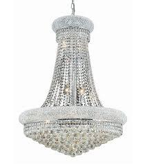 elegant lighting v1800d28c rc primo 14 light 28 inch chrome dining chandelier ceiling light in royal cut