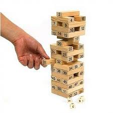 Game Played With Wooden Blocks 100 Wooden Blocks JENGA Blockbuster Stacking Board Game US100100 1