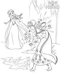Coloriage A Imprimer Reine Des Neige Elsa Blesse Accidentellement