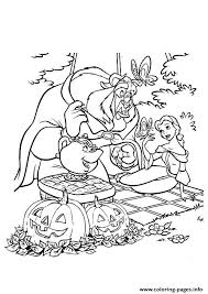 Small Picture The beauty and the beast disney halloween Coloring pages Printable
