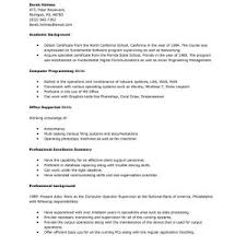 supervisor resume example cover letter knockout perfect resume layout example resume examples free example resumes supervisor resume templates