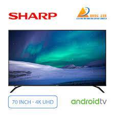 Android Tivi Sharp 4K 70 Inch 4T-C70BK1X UHD   Giá rẻ nhất tại Hùng Anh