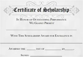 samples of certificates 9 scholarship certificate templates free word pdf format