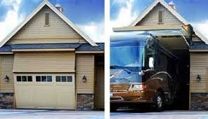 one of a kind rv garage 8 foot tall door that any rv can fit through