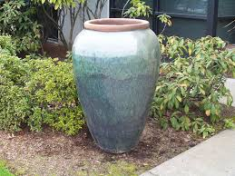 beautiful large patio on large outdoor planter pots