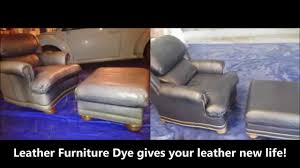leather furniture dye restoration of blue leather chair youtube