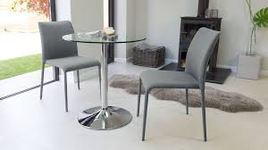 modern round glass and chrome table 2 seater uk pertaining to small with regard dining designs