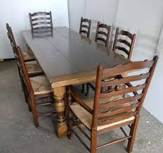 oak ladder back chairs oak dining table and 8 chairs fair design ideas fascinating decor