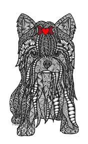 Ships from and sold by amazon.com. Zentangle Yorkshire Terrier Zentangle Patterns Dog Coloring Page Zentangle