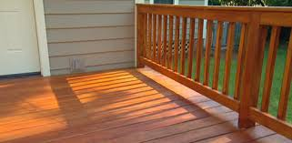 outdoor deck paint or stain. freshly stained wood deck. outdoor deck paint or stain x