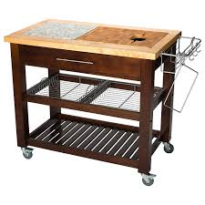 Granite Top Kitchen Cart Amazoncom Chris Chris Jet1224 Pro Chef Kitchen Cart With