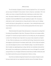 Reflection Essay Grade A Eh 101 English Composition I