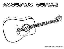 Acoustic Guitar Image Coloring | - coloring pages - | Pinterest ...