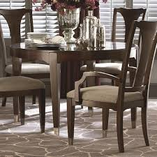 Bassett Cosmopolitan Transitional Round Dining Table with Tapered