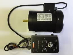 this listing is for a 3 phase motor connected to a vfd variable frequency drive especially por for use on knife making belt grinders