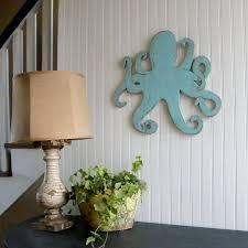 octopus on wooden beach themed wall art with 15 stunning coastal wall art ideas beach bliss living